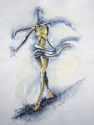 Laufsteg, 40x30, Aquarell auf Papier
