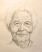 Portraitstudie, 40x30, Bleistift auf Papier