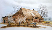 Bauernhaus, 40x60, Öl auf Malplatte