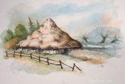 Märchenbuch-Illustrationen,  ca A4, Aquarell auf Papier