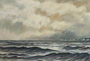 Vor Rügen, 40x50, Öl auf Malplatte
