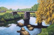 Steinplattenbrücke (England),40x60, Acryl auf Malplatte