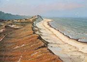 Dünenlandschaft, 35x50, Acryl auf Papier