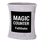 Selbstaufrichtende Messetheke mit Textilgrafik Magic Counter