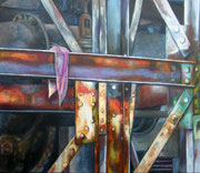 Verloren und vergessen, Acryl auf Nessel, 60 x x70 cm, 2012