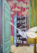 Durch Zeit und Raum / Acryl auf Leinwand, 100 x 70 cm, 2013