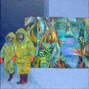 Vorsicht Natur  /  Öl a. Leinwand, 100 x 100 cm,  2007