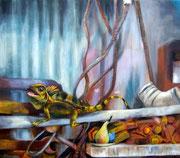 Das letzte Mahl, Acryl auf Nessel, 60 x x70 cm, 2012