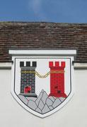 Stadtwappen am Gemeindeamt