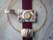 Varissima Uhr mit Schmuckscheibe, Ring und Anhänger im Kreuchauff- Design F37