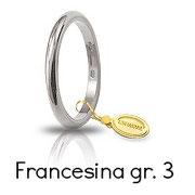 Fede Unoaerre Classica Francesina Oro Bianco Grammi 3 Referenza: 30AFN4B