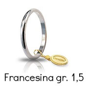 Fede Unoaerre Classica Francesina Oro Bianco Grammi 1,5 Referenza: 15AFN4