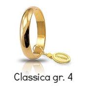 Fede Unoaerre Classica Oro Giallo 4 GR 3,4 mm fascia stretta Referenza: 40 AFN1