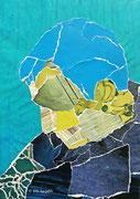 People Thinker I, Papiercollage, 26 x 32 cm (gerahmt), 2019