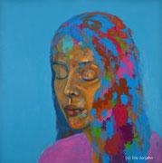 Innehalten, acrylic on canvas, 120 x 120 cm, 2014
