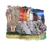 On the rocks, Papiercollage, 20 x 26 cm (gerahmt), 2019