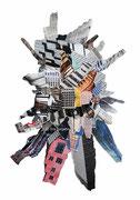 Crystaldancer, Papiercollage, 70 x 50 cm (gerahmt), 2019