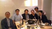 左から安福前会長、森本助監督、安井常任幹事、太田先輩、堂内監督、菅沼監督
