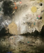 Anima Aurea, 95x80 cm, mixed media on canvas, 2021