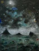 Ultramundanus, 105x80 cm, mixed media on canvas, 2020