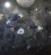 Ilum, mixed media on canvas, 155x135 cm