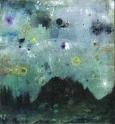 Verum Lapis II, 70x65 cm, mixed media on canvas, 2020