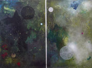 Corpus Hermeticum, mixed media on canvas, Diptych 150x200 cm