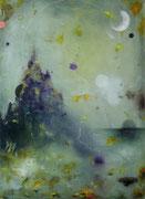 Turris Mundi VI, 100x73 cm, mixed media on canvas, 2020