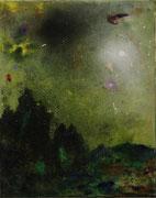 Lumen Naturae II, 50x40 cm, mixed media on canvas, 2020