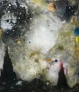 Magnum Silentium, 155x135 cm, mixed media on canvas, 2021