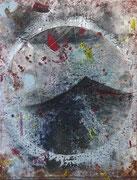 Interna Rerum II, mixed media on canvas, 90x70 cm