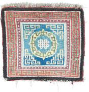 Seating rug, Khamdrum, Tsang Region, Central Tibet, 4th Quarter 19th century, 72 x 68 cm