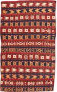 32. Gadjari Kelim, Usbekisch, Circa 1900, 231 x 128 cm