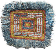 1. Wangden Drumze ( big knot), monastic seating rug, Tsang Region, Central Tibet,  2. half 19th century, 87 x 91 cm