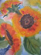 Orangene Sonnenblumen