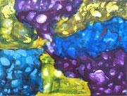 Schellack-Technik, dreifarbig