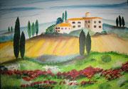 Landschaft in der Toskana