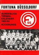 Fortuna Düsseldorf, Terminkalender, 1982/83, Rückrunde