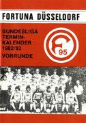 Fortuna Düsseldorf, Terminkalender, 1982/83, Vorrunde