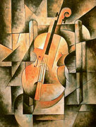 VIOLONCEL - Oil on canvas - 65x45cm 2003 - Private collection in Madrid.