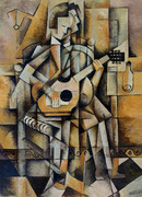 GUITARIST -  Oil on canvas - 100X73cm -  2015