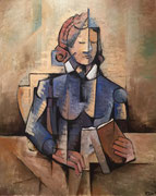 THE READER -  Oil on canvas - 46X33cm -  73x92 cm. 2015. Private collection in London (UK).