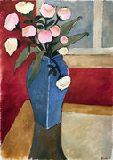 FLOWERS IN BLUE VASE - Oil on canvas - 65x46cm - 2017