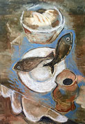 LOAVES AND FISHES - Oil on canvas -  55x38 cm. 2015