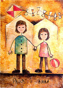 ANNA I PAULA - Tècnica: oli sobre llenç. Dimensions: 130x89 cm. Any: 2001. (Col·lecció privada a Castelló, ESP)