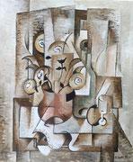 FLORS I BOTELLA - Tècnica: Olis sobre llenç. Dimensions: 46x38 cm. Any: 2015. Observacions: Col·lecció privada a Castelló.(ESP)