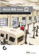 Alu60 wärmedämmende Sektionaltore aus Aluminium