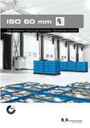 Iso60 beste Isolierung Sektionaltor aus 60 mm Stahl-Paneel
