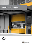 Iso40 Sektionaltor aus Stahl-Iso Paneelen