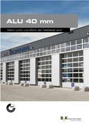 Alu40 Sektionaltore aus Aluminium